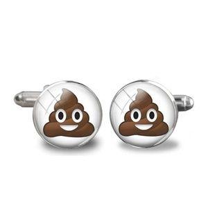 Other - Poop Emoji Cufflinks Cuff Links